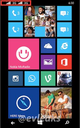 Lumia630のホーム画面