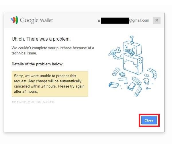 GooglePlayMusicの利用登録失敗