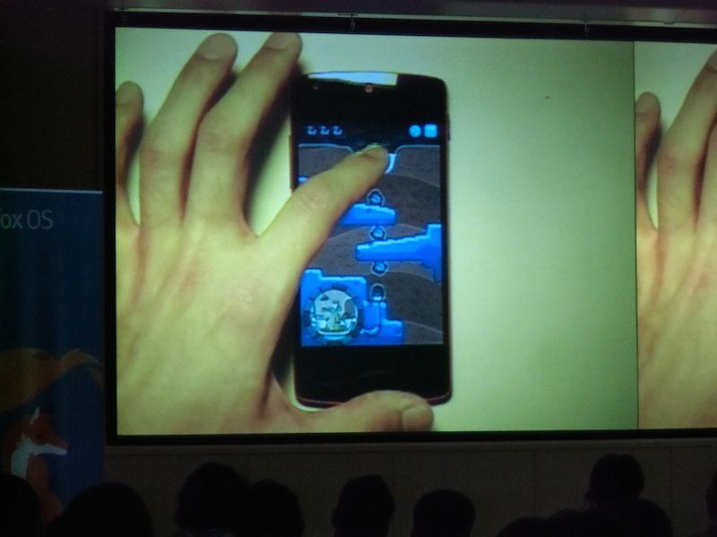 Nexus5で実機デモ