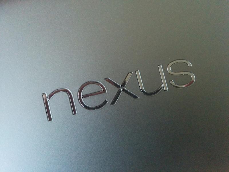 Nexus7のバックパネル
