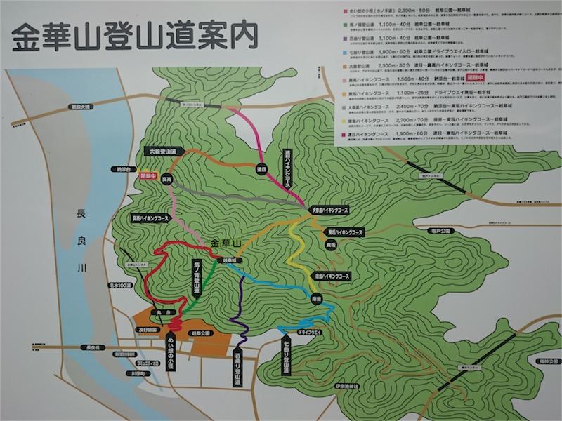 岐阜城の攻略コースはいくつかある