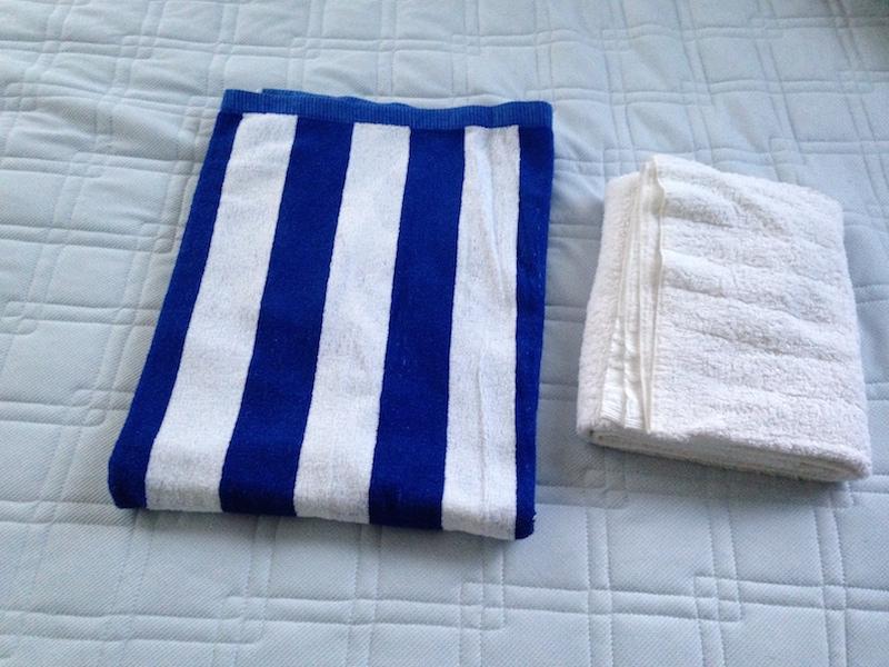 バスタオルとタオルケット