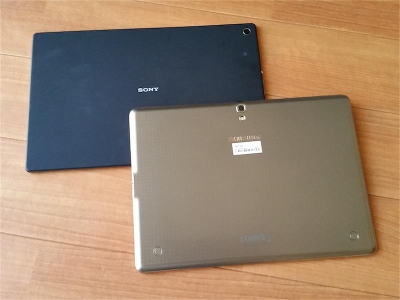 Galaxy Tab SとXperia Z2 Tablet