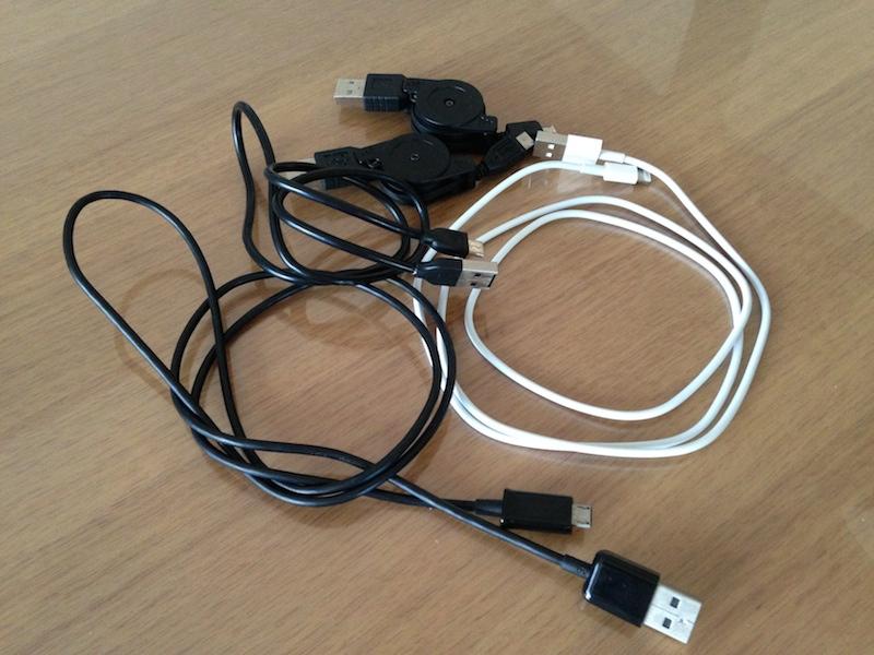 USBケーブルたち