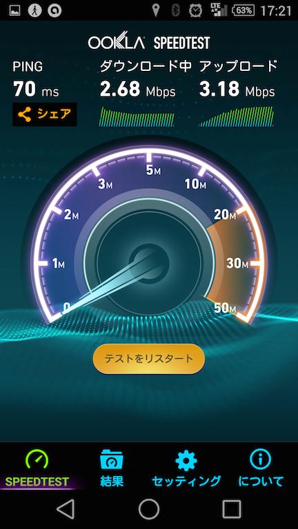イオン浜松市野店でスピードテスト