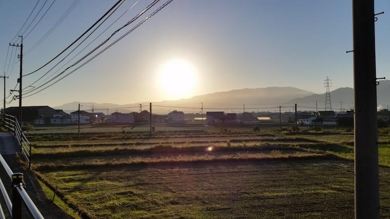 田舎の日の出