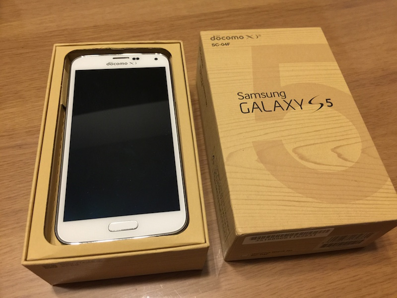 docomo の Galaxy S5