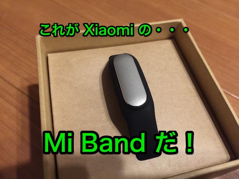 XiaomiのMiBandがやってきた