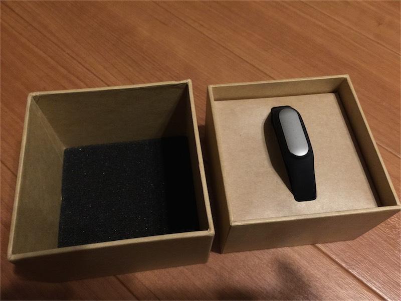 MiBandの箱を開封