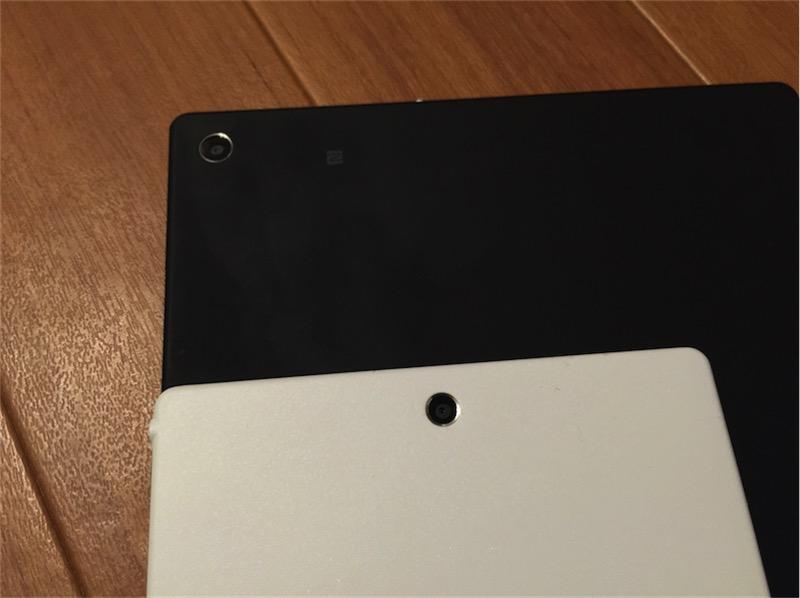 指紋の目立つXperia Z2 Tabletと指紋の目立ちにくそうなXperia Z3 Tablet Compact