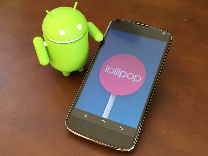 Nexus4 with Lollipop and ドロイドくん