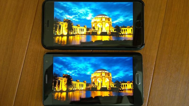 Galaxy Note Edge と iPhone6+