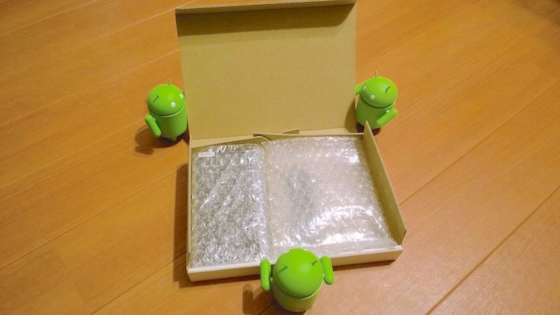 Galaxy Note Edge の梱包作業中