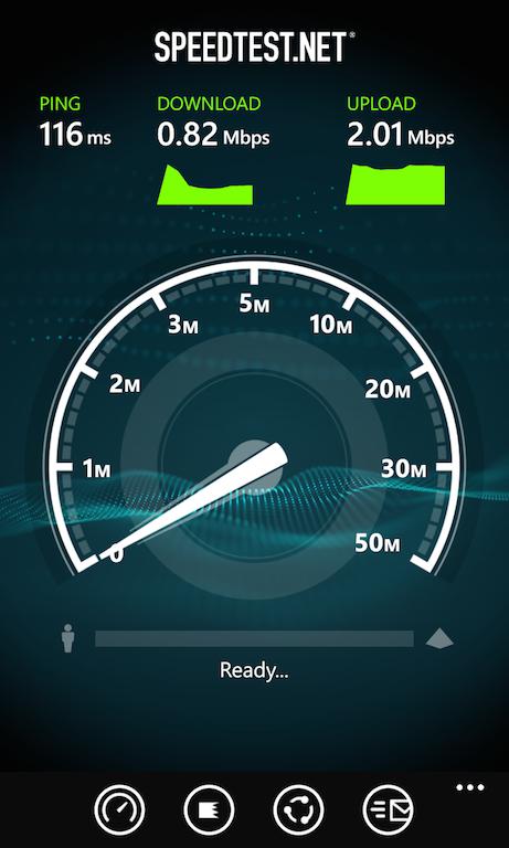 U-mobileのLTE使い放題プランでスピードテスト