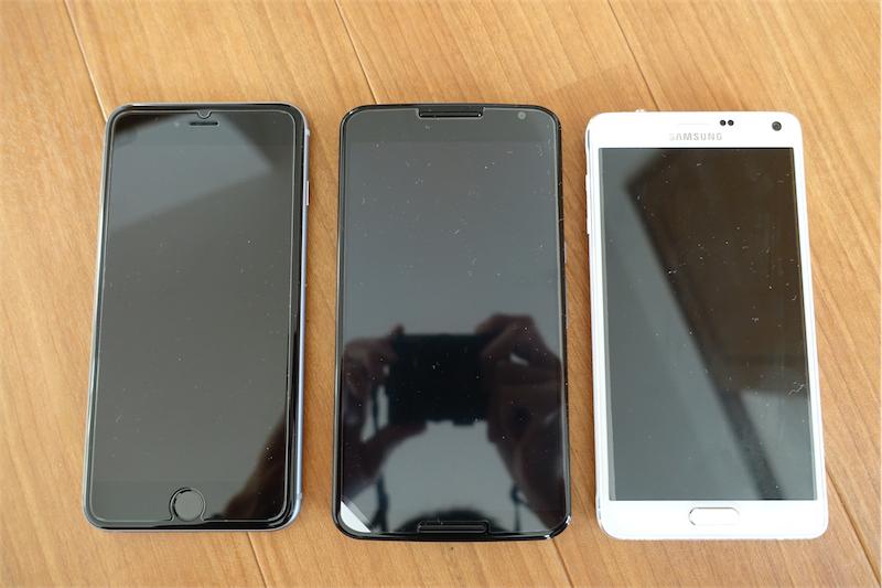 iPhone6+,Nexus6,GalaxyNote4