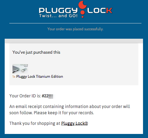 Pluggy Lock