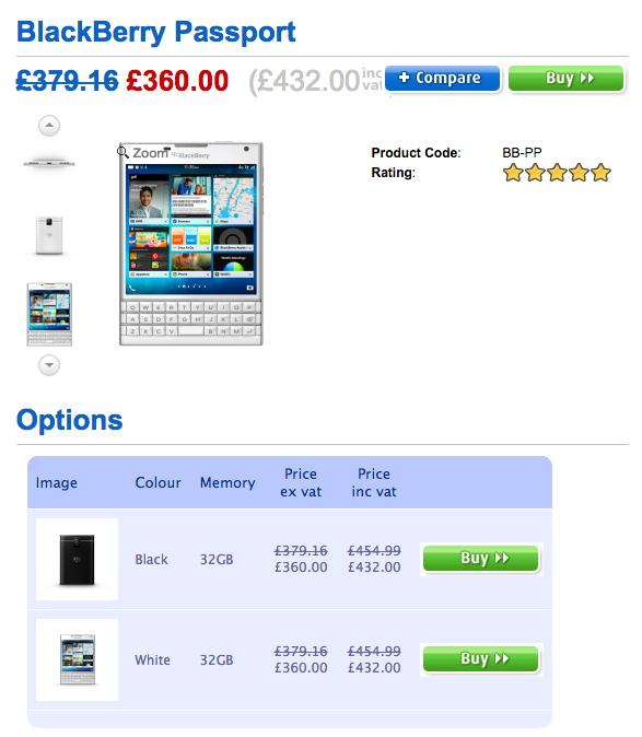 Cloveの価格表示は英ポンド