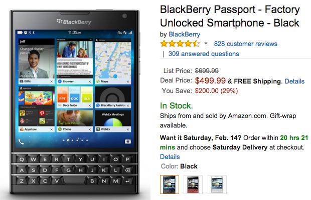 BlackBerry Passportの価格情報