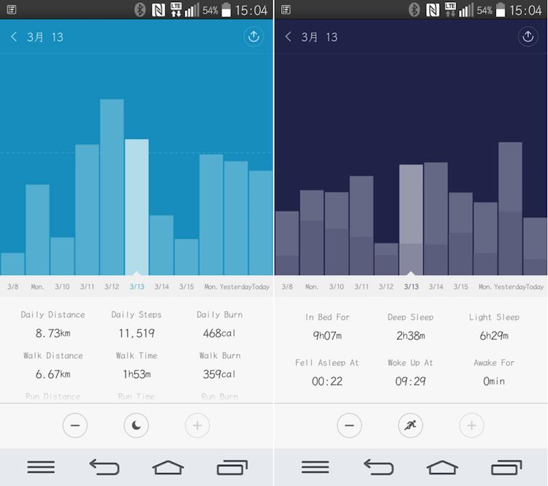 MibandのAndroidアプリが英語表記に対応