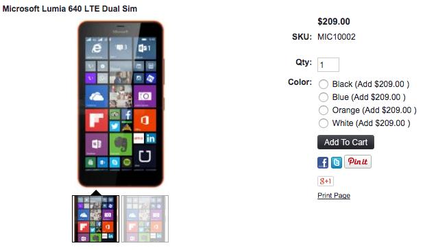 Lumia 640が1ShopMobileで取り扱い開始