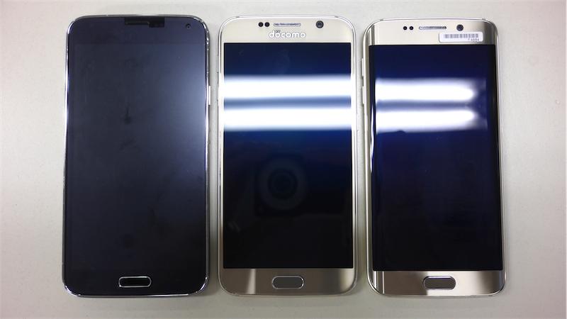 Galaxy S5/S6/S6 edgeを比較