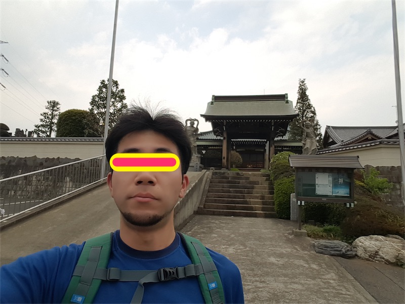 Galaxy S6 edgeのインカメラでチェックポイントと一緒にセルフィー