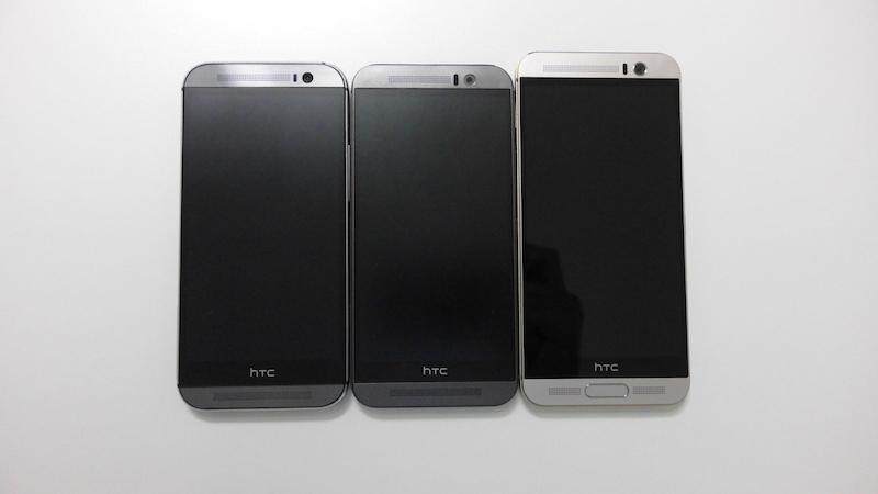 HTC One M9+/M9/M8の外観を比較