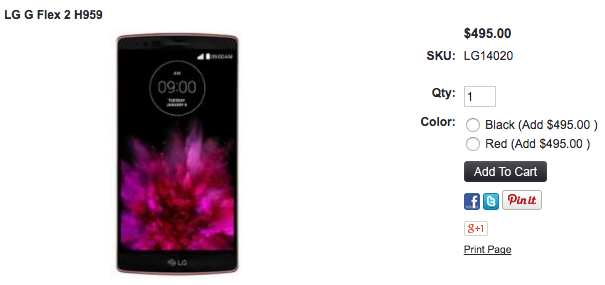 1ShopMobile.comでLG G Flex 2が値下げ