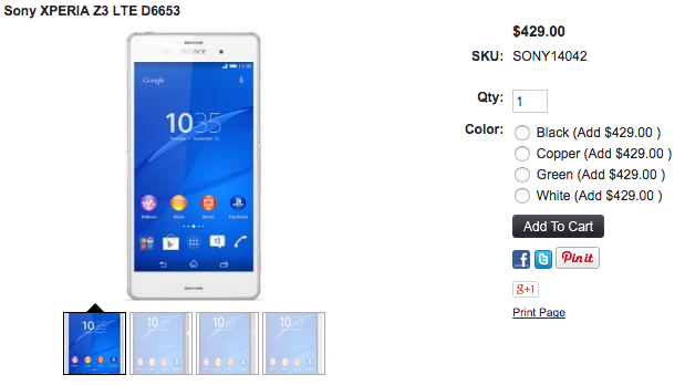 Xperia Z3 Purple Diamond Editionの在庫は残り僅か?