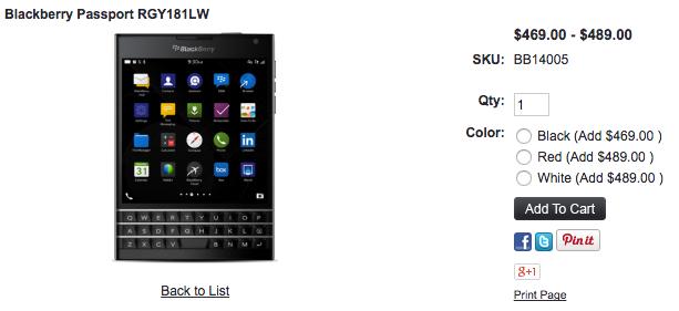 BlackBerry PassportのRedモデルが1ShopMobile.comに入荷