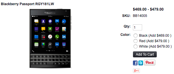 BlackBerry PassportのRedモデルが1ShopMobile.comで値下げ