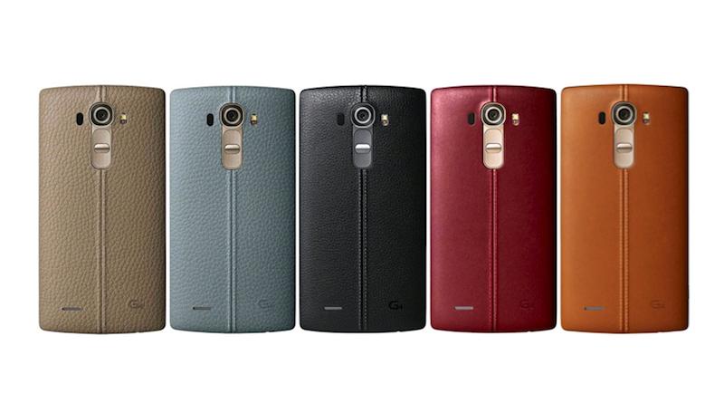 LG G4 本革バックカバーの質感