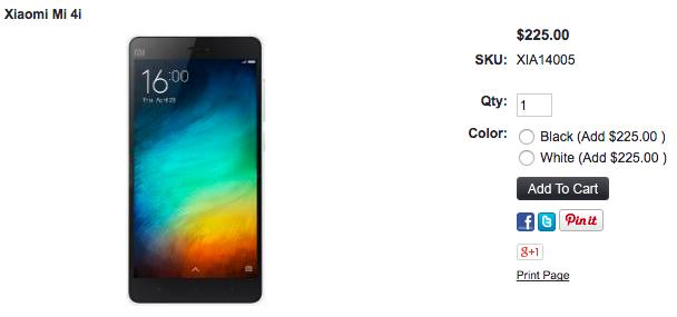 Xiaomi Mi 4iが1ShopMobile.comに入荷