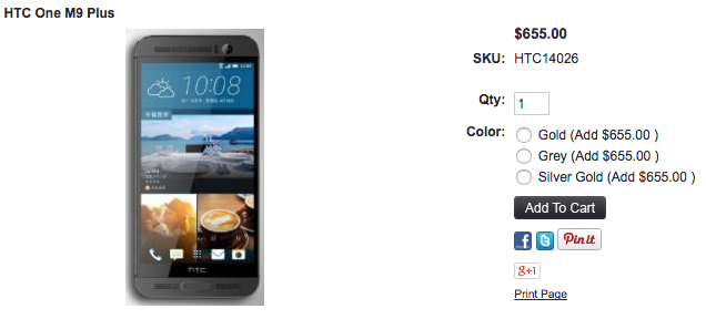 1ShopMobile.comにHTC One M9 Plusが入荷