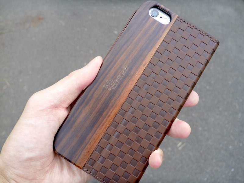 Uunique Wooden Case with Checker Emboss iPhone 6 Plus Brown UUOOIPAWC006