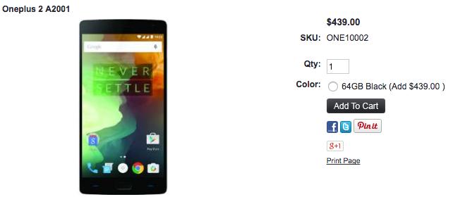OnePlus 2が1ShopMobile.comに入荷
