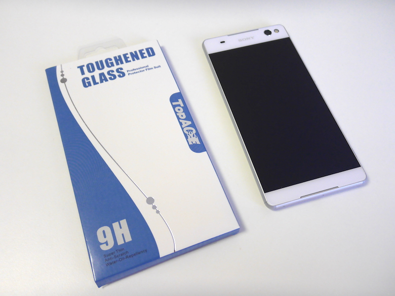 ShineZone Xperia C5 Ultra 専用強化ガラスフィルム