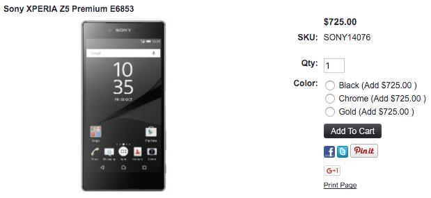 Xperia Z5 Premium E6883が1ShopMobile.comに入荷