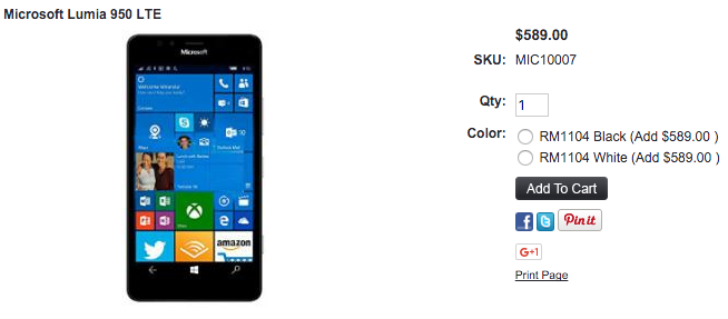 1ShopMobile.comでMicrosoft Lumia 950の取り扱いがスタート