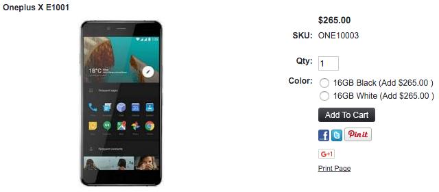 1ShopMobile.comでOnePlus Xの取り扱いがスタート
