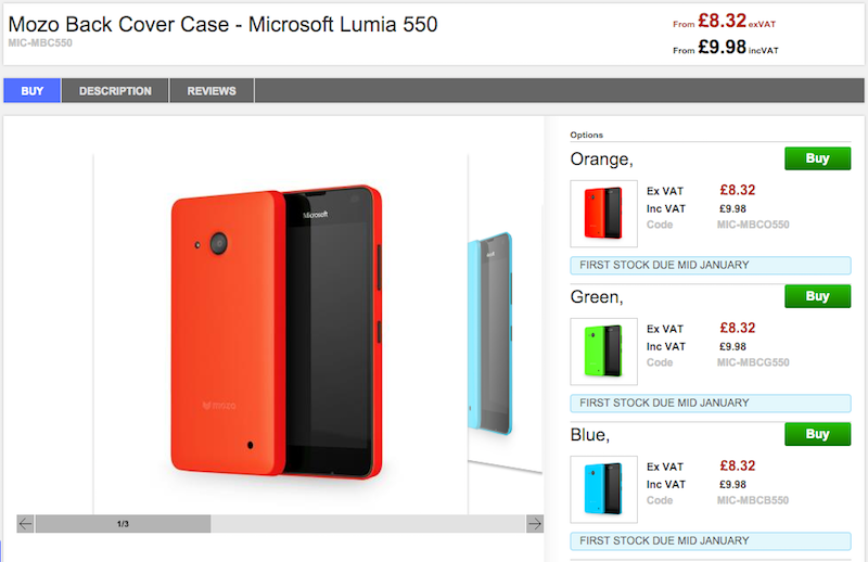 CloveでMicrosoft Lumia 550の販売がスタート
