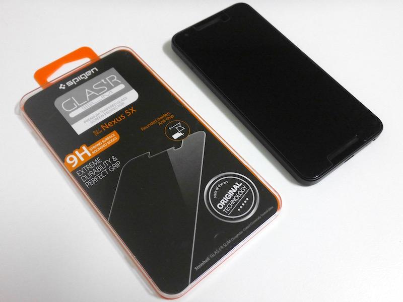 Spigen Nexus 5X ガラスフィルム SGP11815