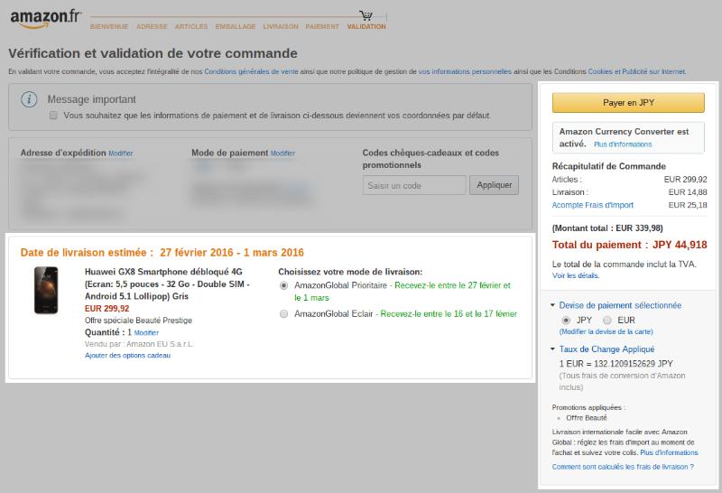 Huawei GX8 Amazon.fr