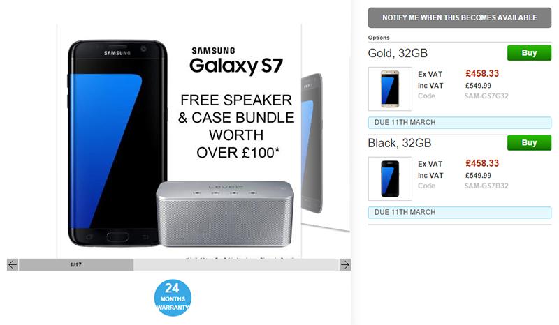 Clove Samsung Galaxy S7 予約