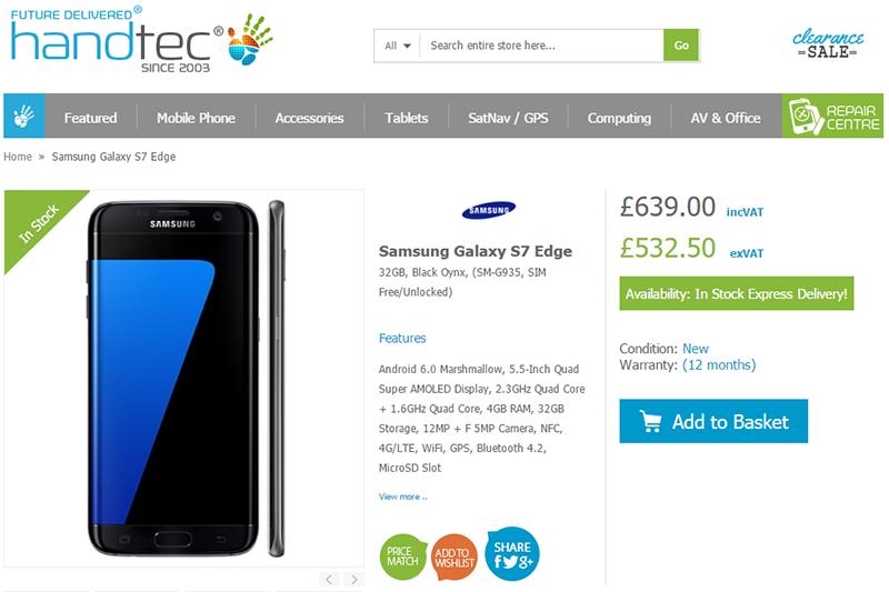Handtec Samsung Galaxy S7 edge