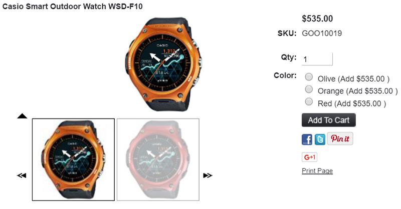 WSD-F10 Casio Smart Outdoor Watch