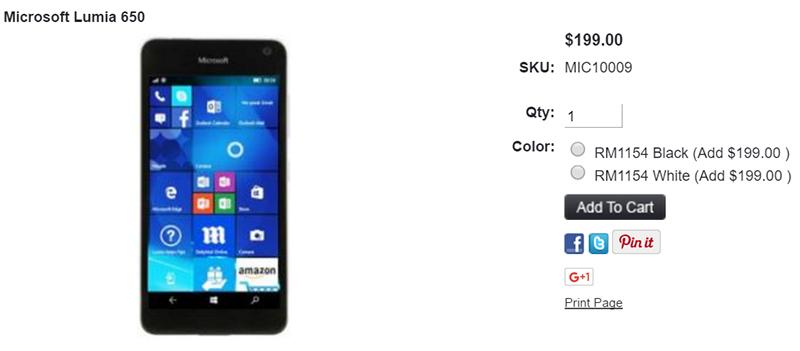 Lumia 650 RM1154の取扱いが1ShopMobileで開始