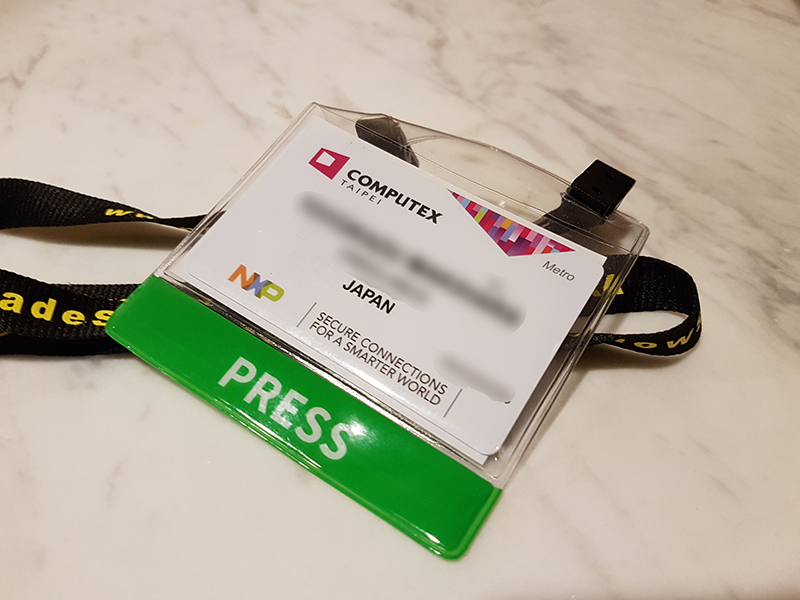 Computex TAIPEI 2016のPRESS PASS