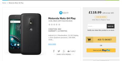 HandtecがMotorola Moto G4 Playの購入予約を受付中