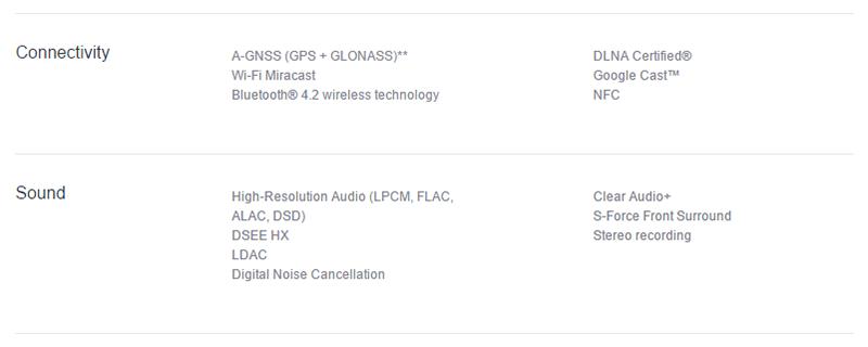 Sony Mobile Communications USの製品ページ